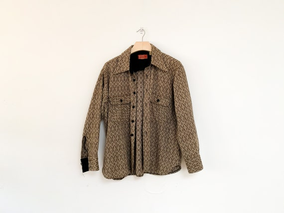1970's Patterned Wool Overshirt