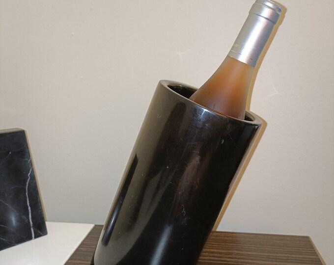 Marble Wine Cooler - Black Marble Bottle Chiller - Stone wine Cooler - Marble Stationary Holder - Champagne Bucket