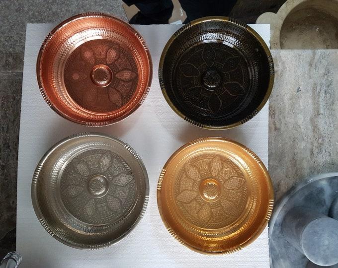 Authentic Hammam Bowls, Vintage Hammam Bowls - Spa Bowls, Golden Yellow - Antique - Cromium - Bath Bowls
