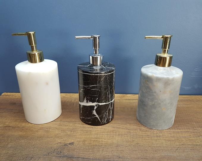 Liquid Soap Dispenser - Luxury Marble  - Bathroom Decoration Accessories - Liquid Soap Dispenser - Marble Soap Dispenser