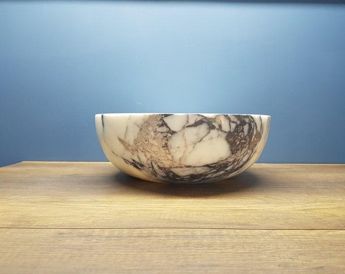 Lilac Bowl Marble Sink, Handmade Bathroom Sink
