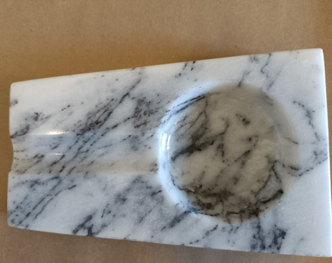 Lilac Marble Ashtray - Handcrafted Ashtray for Cigar - Solid Marble Ashtray - Smoking Accessories - CigarAshtray - Gift for Him