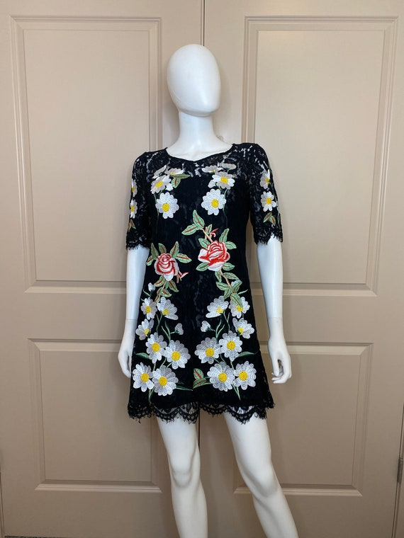 DOLCE & GABBANA Embroidered Flower Lace Dress