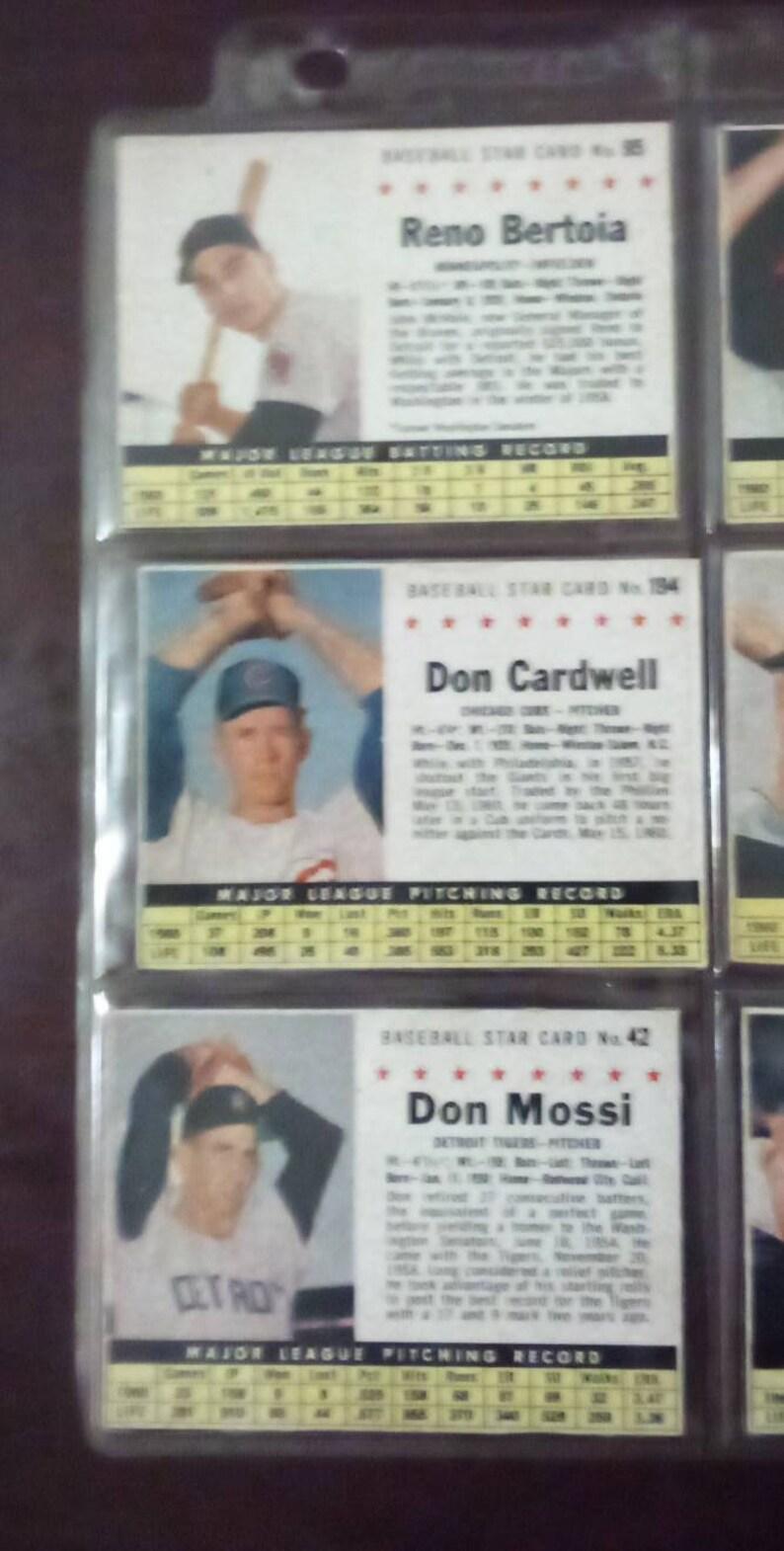 Baseball star cards 1960s.