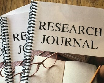 Research Journal | Notebooks | 6 x 9 inches| Journals