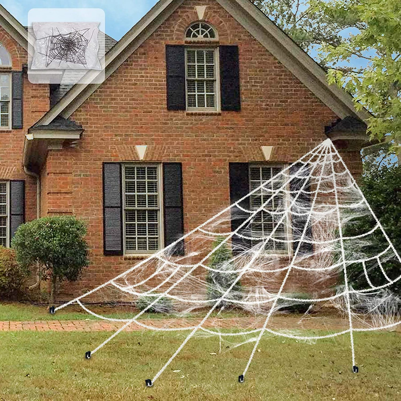 Front yard Halloween Home Decor - Giant Spider Web