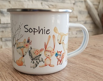 Enamel cup with desired print :-)))) Personalized