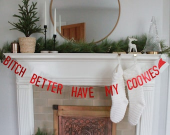 Christmas Party Decor Funny Christmas Party Banners Let/'s Get Blitzened Banner