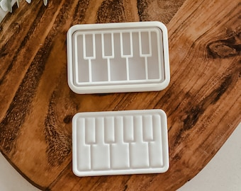 Paint Keys cutter and stamp set   Cookie tool  Cookie Stamp  Fondant Embosser   biscuit cutter   Music   Birthday gift   Gift