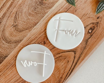 Four stamp   Cookie tool  Cookie Stamp  Fondant Embosser   biscuit cutter   Love you   Gift  