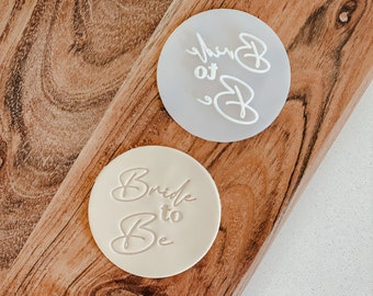 Bride to Be Stamp   Cookie tool  Cookie Stamp  Fondant Embosser   biscuit cutter   Birthday gift   Gift   Movie