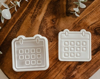 Calendar cutter and stamp set   Cookie tool  Cookie Stamp  Fondant Embosser   biscuit cutter   Event   Birthday gift   Gift