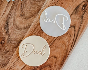 Dad cookie stamp   Cookie tool  Cookie Stamp  Fondant Embosser  biscuit cutter   fathers day   Birthday gift   Gift