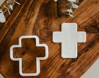 Rounded Cross cutter   Cookie tool  Cookie Stamp  Fondant Embosser  biscuit cutter   Birthday gift   Gift   Shape I Religion