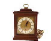 Antique Vintage Seth Thomas Electrical Wood Brass Mantel Desk Clock Timepiece, Antique Seth Thomas Clock, Vintage Mantel Clock, Study Room