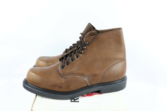 NOS Vtg 90s Red Wing Shoes Mens 13 E Oil Tanned L… - image 5