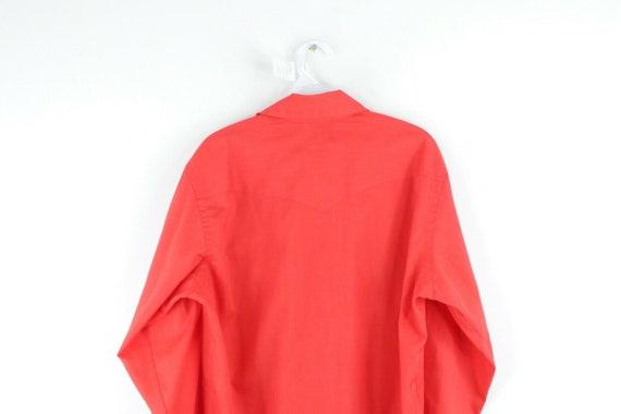 70s Wrangler Mens Medium Double Pocket Long Sleev… - image 6