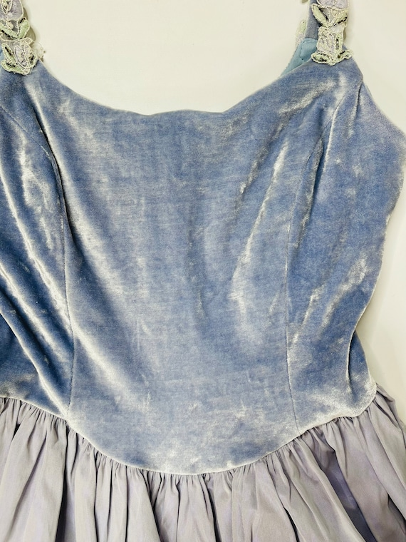 90s Jessica McClintok Gunne Sax Womens 7/8 Blue R… - image 6