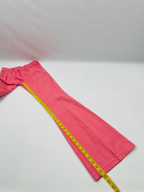 70s Womens 0 XS High Rise Bell Bottom Jeans Brigh… - image 5