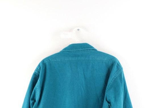 80s LL Bean Mens 16.5 Double Pocket Chamois Cloth… - image 6