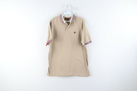 80s Chaps Ralph Lauren Mens Large Striped Short S… - image 1