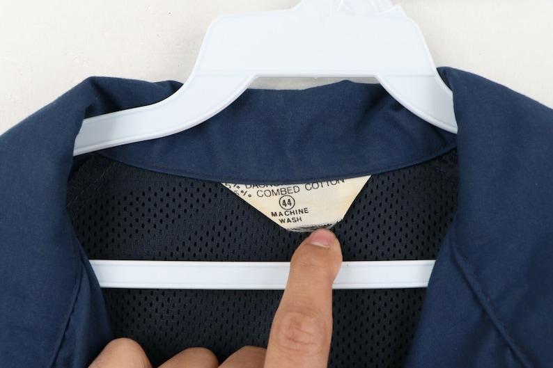 60s Rockabilly Mens 44 Blank Full Zip Mechanic Bomber Jacket Blue USA 60s Rockabilly Mechanic Jacket 60s Jacket, 60s Rockabilly Jacket