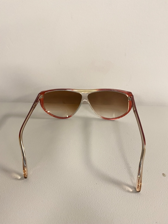 90s NOS Deadstock Clear Pink Acetate Sunglasses R… - image 5
