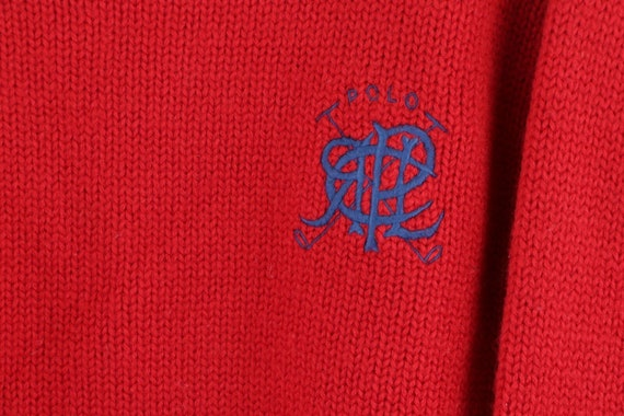 80s Ralph Lauren Womens Large Spell Out Crest Dou… - image 4