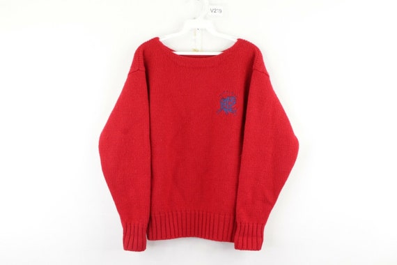 80s Ralph Lauren Womens Large Spell Out Crest Dou… - image 1