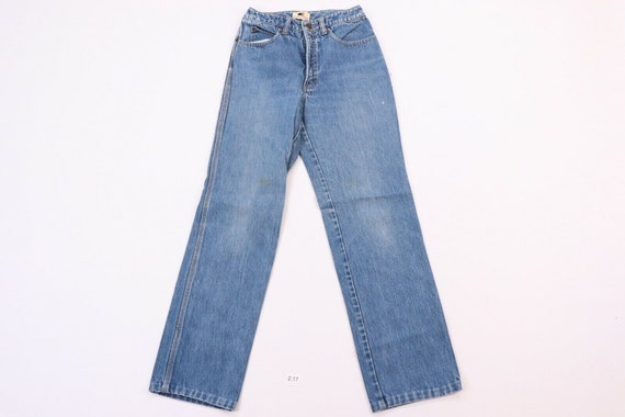 80s Calvin Klein Womens 9 Distressed Faded Straig… - image 1