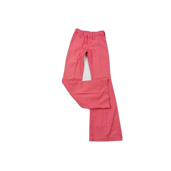 70s Womens 0 XS High Rise Bell Bottom Jeans Brigh… - image 1