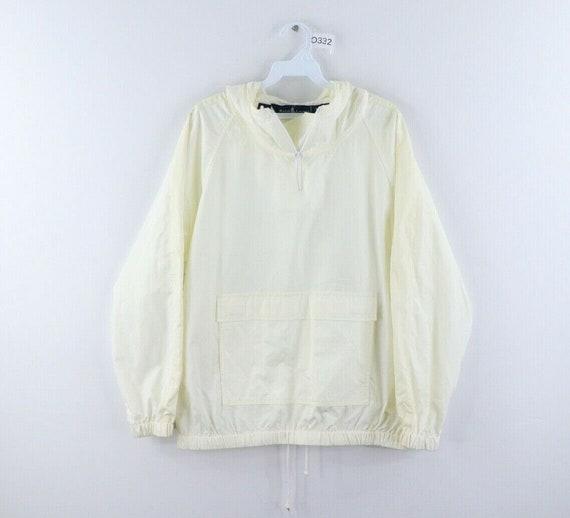 90s Ralph Lauren Mens Medium Blank Hooded Anorak J