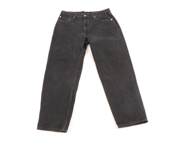 Vintage 90s Levis 550 Relaxed Fit Distressed Fade… - image 1