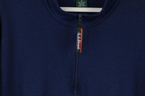 90s LL Bean Mens Large Long Sleeve Half Zip Therm… - image 4