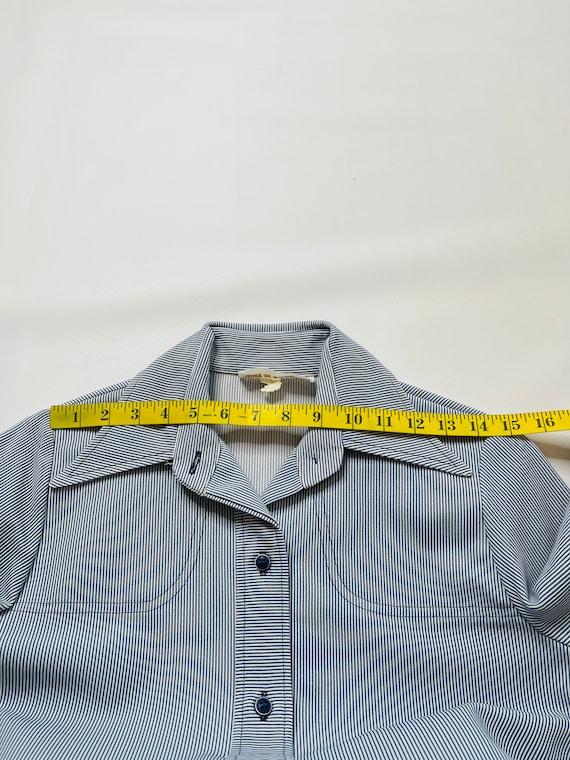 60s Mod Womens 6 Pinstriped 2 Piece Flare Pant Su… - image 3