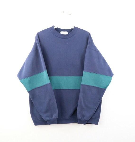 90s Streetwear Mens Large Faded Blank Color Block