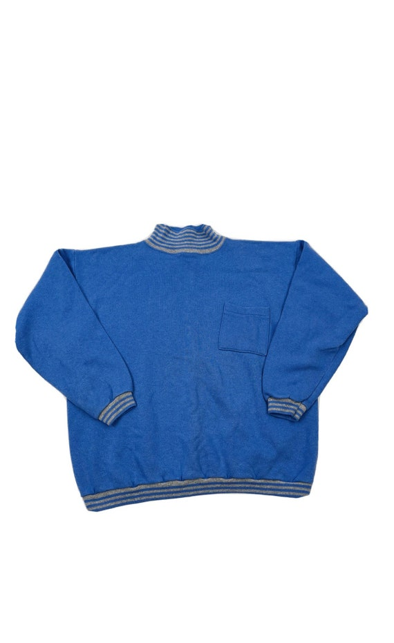 90s Streetwear Womens Medium Turtleneck Pocket Cre