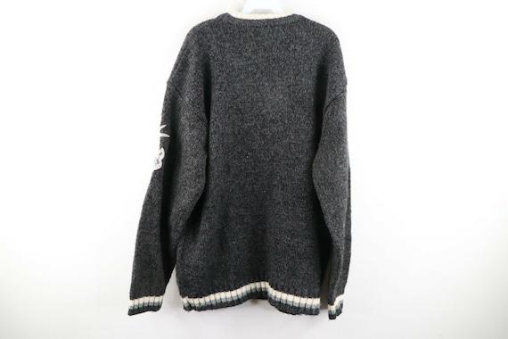 90s Avirex Varsity Mens XL Wool Acrylic Knit Spel… - image 8