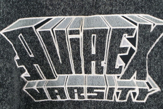 90s Avirex Varsity Mens XL Wool Acrylic Knit Spel… - image 4