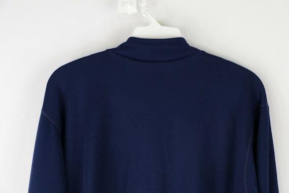 90s LL Bean Mens Large Long Sleeve Half Zip Therm… - image 7