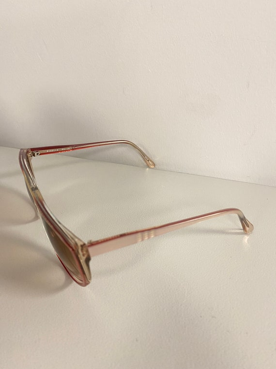 90s NOS Deadstock Clear Pink Acetate Sunglasses R… - image 4