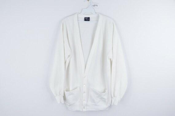 NOS 60s Streetwear Mens XL Blank Long Sleeve Cardi
