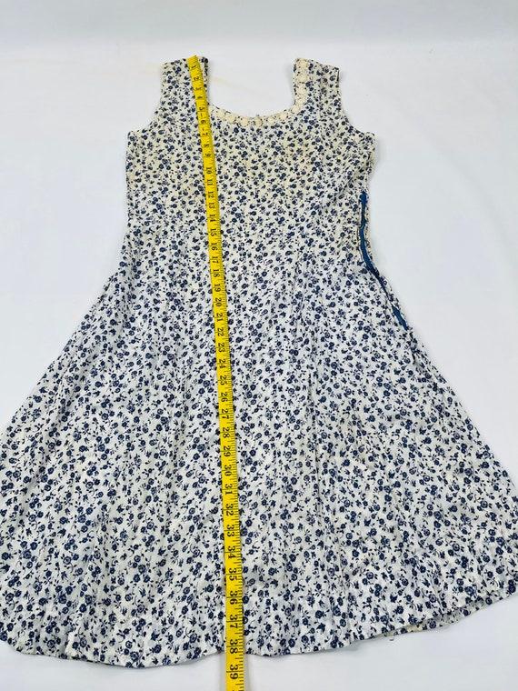 70s Womens Medium Floral Prairie Dress, Handmade … - image 5