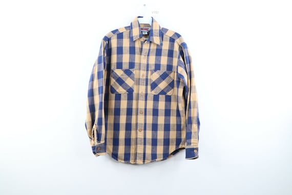 80s Big Mac Mens Small Double Pocket Thick Flannel