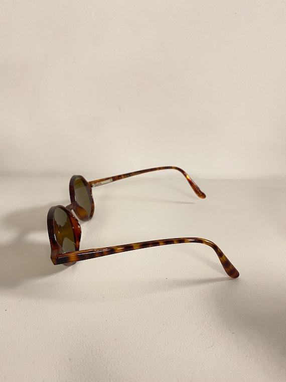 90s NOS Deadstock Acetatate Oval Sunglasses Torti… - image 3