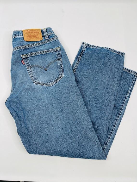 90s Levis 505 Regular Straight Leg Distressed Den… - image 2