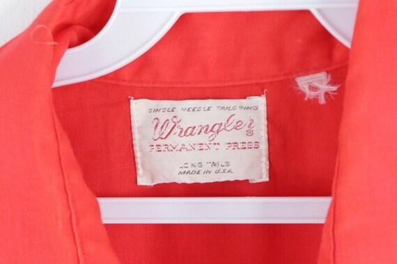 70s Wrangler Mens Medium Double Pocket Long Sleev… - image 4