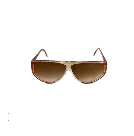 90s NOS Deadstock Clear Pink Acetate Sunglasses R… - image 1