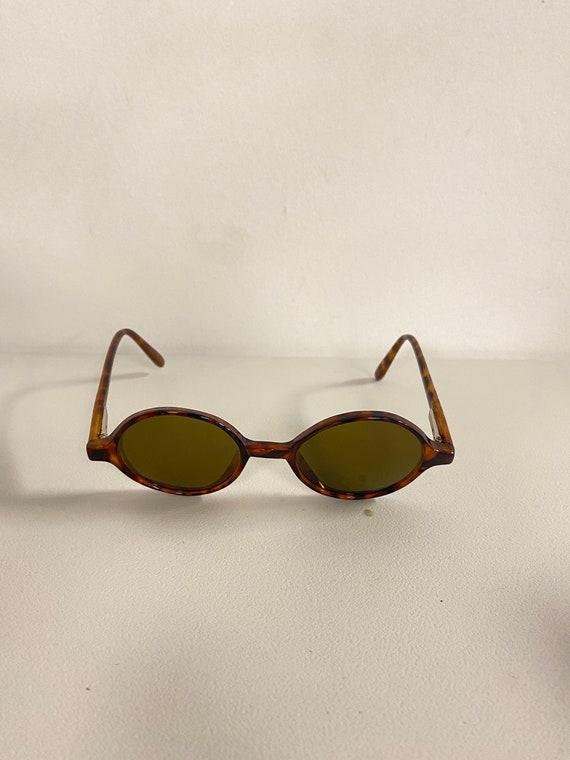 90s NOS Deadstock Acetatate Oval Sunglasses Torti… - image 2