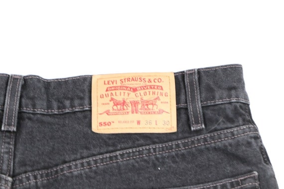 Vintage 90s Levis 550 Relaxed Fit Distressed Fade… - image 10